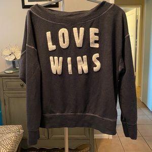 "Sundry blue ""Love Wins"" sweatshirt"